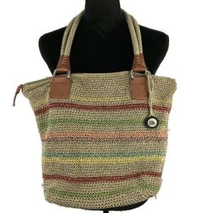 THE SAK Striped Crochet Shoulder Bag